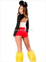 Animal Cosplay cartoon mikey Cos 3pcs set Adult Women fantasia Party Costumes chrismas Halloween carnival Dresses free shipping