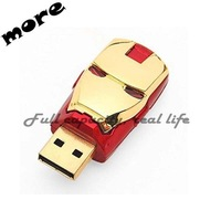 Gold supplier usb flash drive 3.0 usb with key chain ironman 32gb 64gb cheap pendrive metal custom usb flash drive