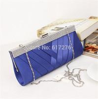 Designer Clutch Wallet 2014  Fashion Shoulder Bags Wedding Party Evening Bag Women Handbags Black/Blue/Purple