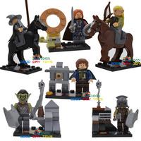 SY251 8pcs Hobbit Gollum Legolas minifigures block toys The Lord Of The Rings building blocks Legolas with horse figures