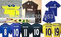 OSCAR HAZARD DROGBA Soccer Kids Jerseys Chelsea 2015 DIEGO COSTA Chelsea 14/15 Jersey Chelsea 14 15 Home Away Football Shirt