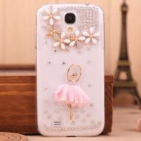 Samsung Galaxy S4 I9500 s4 mobile phone shell shell diamond rhinestone diamond drill shell border Samsung