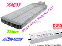 Long lifespan led street Light-224W 224pcs Chip Bridgelux LED light MEAN WELL L936 x W280x D70mm cool/natural/warm white