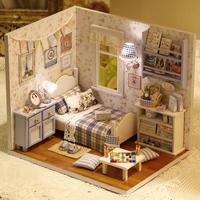 New arrived Full Sunshine DIY doll house handmade assembling toys Dollhouse Miniatures Models free shipping