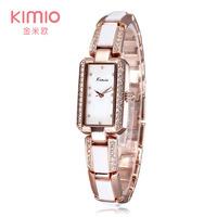Women luxury Brand KIMIO Rhinestone Wristwatches Original Japan Quartz Watches Casual Diamond Dress watches For Gifts Wholesale