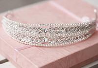 The bride hair accessory marriage wedding alloy accessories rhinestone belt bead