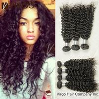 Brazilian Virgin Hair Deep Wave 4pcs Lot Brazilian Curly Virgin Hair Weave Rosa Hair Products Last Long Human Hair Extension #1B