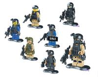 480pcs/lot swat team minifigures building block