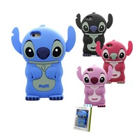 For iphone 6 6G For iphone6 4.7 Case Cape 3D Lilo Stitch Cartoon Pink Sale Prevent Scratches soft Cover Back Bag