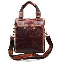 free drop wholesale Oil leather / Suede Genuine Leather Retro Men's Business Briefcase Tote Shoulder Bag Vintage  Handbag