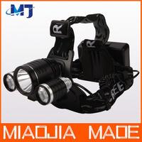 CREE XM-L T6 LED 2*Q5 LED 3000Lm Rechargeable Headlamp Headlight Head lamp bicycle light cycling light bike Light
