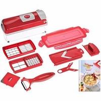 Free shipping,2014 hot sale  9 Pcs Multifunction  Vegetable Fruit Peeler Cutter Multi Chopper Slicer
