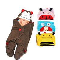 Hot Animal Cartoon Newborn Baby Sleeping Bag Cute Blanket Swaddle Stroller Wrap H1271