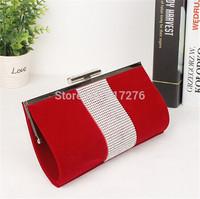 Designer Purses And Handbags 2014  Fashion Shoulder Bags Diamond Clutch Women Handbags Black/Blue/Purple/Red