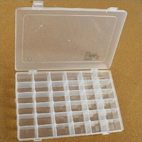 Free shipping  2pcs Electronic Components/parts Storage Box moveable clapboard inside 27.2*17.5* 4.3CM