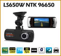 "Wholesale LS650W 2.7"" TFT LCD Full HD 1920*1080P 30FPS G-Sensor Car cam DVRs DVR Camera video recorder Black box carcam"