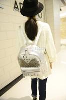 2014 hot sales Black Rivet PU backpack Fashion Student bag School bag Hot sale bag woman bag