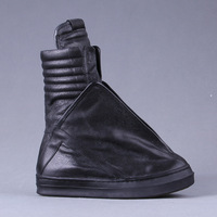 High End Custom Luxury owens special Limite version HI-TOP casual high boots high top shoes genuine leather boots