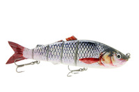 """10"""" Life Like Swimbait Fishing Bait Multi Jointed Lures Pike Musky Ocean Boat Fishing Artificial Bait Lure C White"""