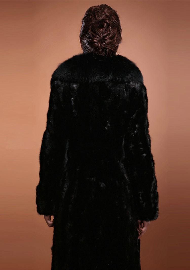 Long Faux Fur Mink Coats