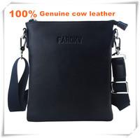Brand design First layer Cow leather men handbag 100% genuine leather men messenger bag best business messenger real leather bag