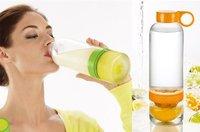 Lemon   water bottle    juicer water  bottle