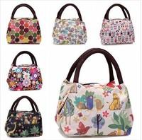 2014 new women handbags thermal bag women bags waterproof printed  lunchbox  lunch bag for kids picnic bag
