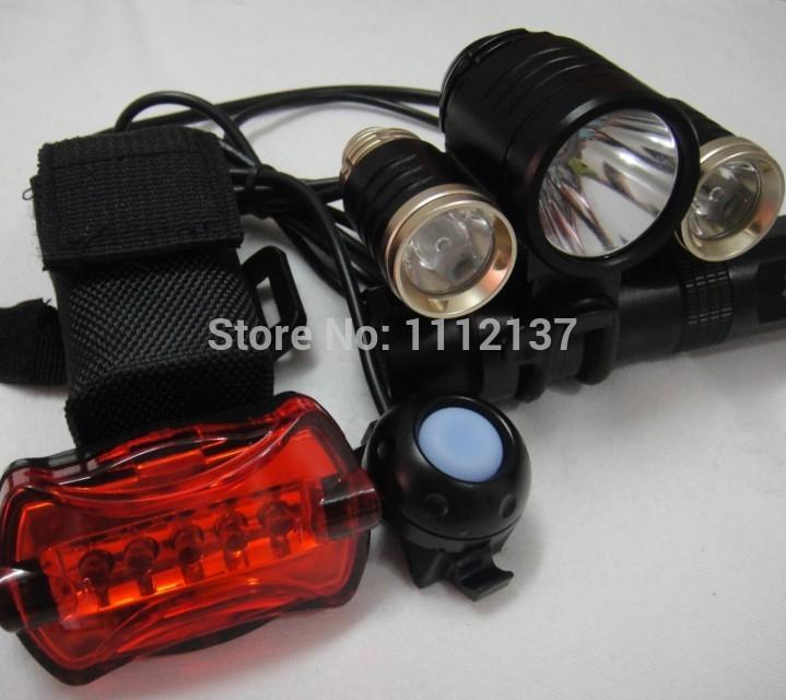 Фара для велосипеда Xm-l t6 5000LM 3 x T6 CREE xm/l + 2 x XPG R5 4 8.4v 6400mAh bicyclelight