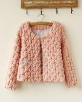 High Quality 2014 New Arrival Winter Women Coat Fashion Love Plush O-neck Long-sleeve Jacket Fur Coat Free Shipping