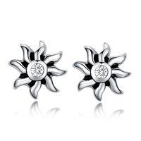 Fashion punk jewelry crystal stud earrings stainless steel men brinco