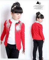 New Fashion Spring Female Children Outerwear Girls Jacket Kids Blazer