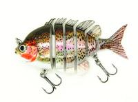 "2014 New 3"" Crazy Panfish Multi Jointed Fishing Life-like Hard Lures Swimbaits S-PAN-C Free Shipping"