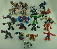 10pcs/set Different Captain America  Iron Man Marvel  Action Figures Classic Toys For Kids