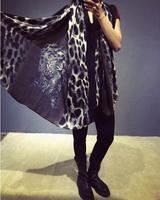 Women's Scarves 2014 Printed leopard patterned Scraf luxury Brand women Scraf  Warm Shawl