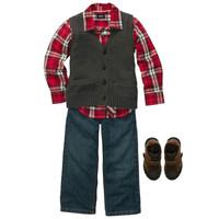 baby boy Christmas boys menina kids clothes sets denim clothing full formal  three pieces sets overall clidren