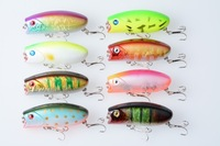 New 60mm 8 color lures fishing Popper fishing lure 6cm 10.5g #8 hard steel carbon hook iscas artificiais bait 8pcs free shipping