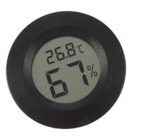 Digital Mini Round Thermometer Humidity Hygrometer Meter