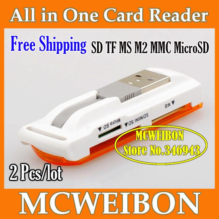 Brand USB 2 0 ALL IN 1 Multi Micro CARDREADER SD MMC MS M2 SDHC Consumer