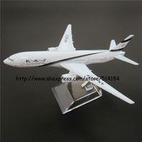 16cm Alloy Metal Air El Al Israel Airlines Boeing 777 B777 Airways Plane Model Airplane Model w Stand Aircraft Toy Gift