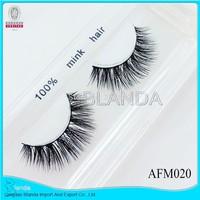 By UPS 100pair/lot 2015 New natural long 100% Real Thick Mink Strip Lashes /False Individual mink Eyelashes (eyelash extensions)