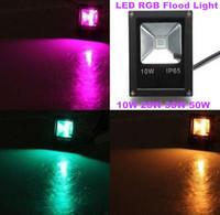 4X Quality Led Flood Light 10W 20W 30W 50W IP65 AC85-265 RGB Remote Control Led Floodlight Outdoor Lightings