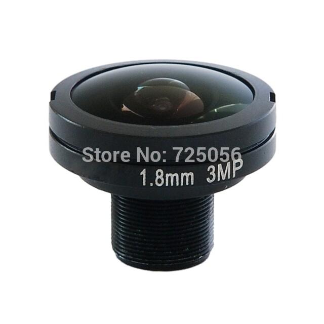 HD 3.0Megapixel 3mp 1.8mm IR CCTV Fish Eye Camera Module Lens M12 Mount Aperture F2.8 Wide Viewing Angle(China (Mainland))