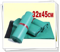 32x45cm 100pcs/lot green plastic mailing bags express bags self adhesive seal bag