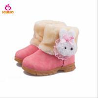 Retail 1 pcs 2014 New Child Warm Girls Boots Fashion Short Snow Boots Children Rubbit Shoes Kids 3 Colors Size 6-12.5 AB510
