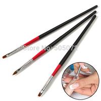 A11 A11 A10 A11 Free shipping New 3pcs UV Gel Acrylic Nail Tips Nail Art Brush Pen Brush Nail Pen Carved  T1011 P