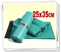 25x35cm 100pcs/lot wholesale green plastic mailing bags express bags self adhesive seal