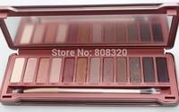 Free shipping!!! 2pcs Pro Eye Shadow Eyeshadow Box Pigment Nude 12 Colors Cosmetic Beauty Tools