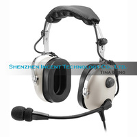 Free shipping White Headset PNR (Passive Noise Reduction) Aviation Headset IN-1000