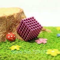 Free shipping 216pcs 3mm buckyballs magnetic balls neocube cybercube magcube  Packed at round tin box  pink color