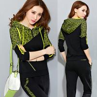 2014  Plus size clothing plus size 200 autumn loose twinset